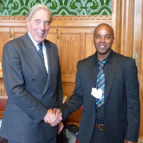Michael with Lord Ramsbotham GCB, CBE at the House of Lords 2012, 'Safe Grounds' symposium day.where Michael was guest speaker alongside Digby Griffith, Director  (NOMS). subject matter desistance from crime.