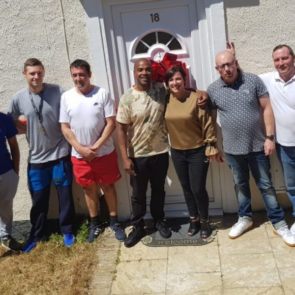 Supported Move on Home number one, staff and first ever residents, 18th June 2018.